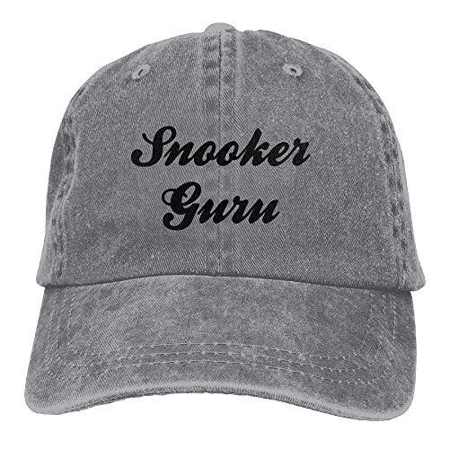 GiveUCap Unisex Denim-Baseballmützen Snooker Guru Printing Adjustable Baseball Cap Hats for Men Women