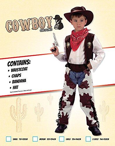 Imagen de disfraz de niño de vaquero del lejano oeste. 6  9 años alternativa