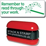 "Primary Teaching Services ""Remember to Read Through your Work"" School Marking Stamper"