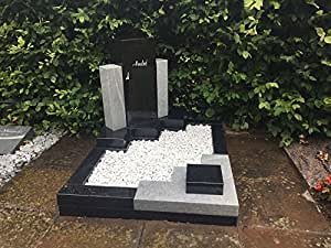 urne urne fun raire pierre tombale noir blanc pierre tombale tombeau granit marbre syst me. Black Bedroom Furniture Sets. Home Design Ideas