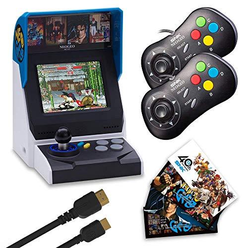 NEOGEO Mini International Collectors Pack: Black (Includes NEOGEO Mini, 2 x  Black Controllers, HDMI Cable, Sticker Kit) (Electronic Games)