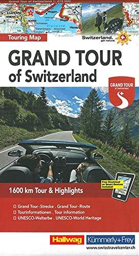 Switzerland the Grand Tour - Touring Map 2017