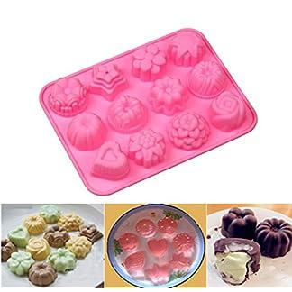 Moldes de Silicona en Forma de Flores Para Magdalenas Fondant Mini Tarta Moldes de Chocolate
