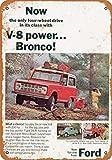 BRILLON 1966 Panneau en métal pour Ford Bronco 20,3 x 30,5 cm