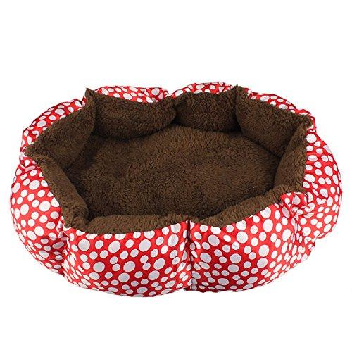 Cuccia per cane, Culater Cane Morbida Lana Cucciolo Caldo Letto Accogliente Casa Soffice Gatto Nido Mat Pad (Rosso)