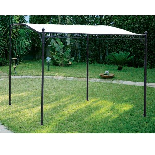 Gazebo in ferro da giardino per esterno cm 3 x 2.5 ecru'