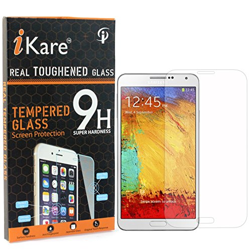 Galaxy Note 3 Tempered Glass, iKare 2.5D 9H Tempered Screen Protector for Samsung Galaxy Note 3