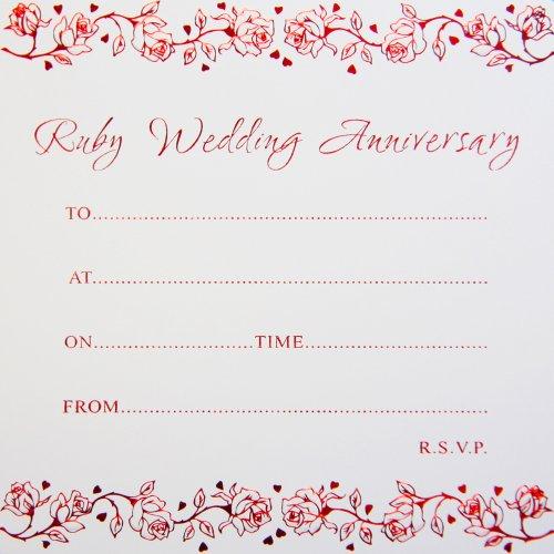 Jean Barrington Einladungen Zum 40. Hochzeitstag