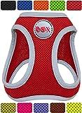 DDOXX Hundegeschirr reflektierend Air Mesh | Step-In | für große, mittelgroße, mittlere & kleine Hunde | Geschirr Hund | Katze | Brustgeschirr | Softgeschirr | Zubehör | Rot, Größe E (XL)