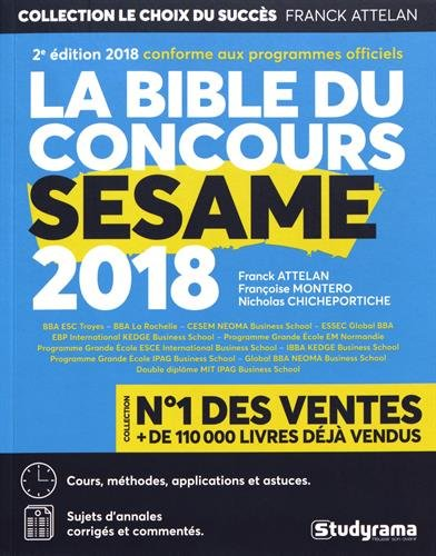 La bible du concours Ssame 2018