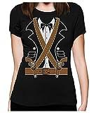 Déguisement de bandit mexicain Western Halloween T-Shirt Femme XX-Large Noir