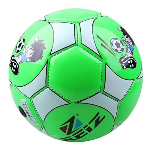 CUTICATE Pelota Fútbol Tamaño 2 Balón Cuero Entrenador