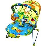 Just4baby transat musical apaisant pour bébé, avec vibrations et 4 jouets suspendus...