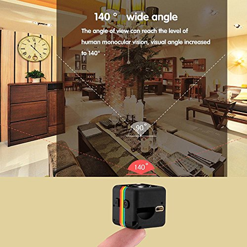 Pawaca Mini Camera HD SQ11 Microcamere Spia per visione notturna 1080P Sport Mini DV Videoregistratore Telecamera per auto a infrarossi Rilevatore di movimento - 5
