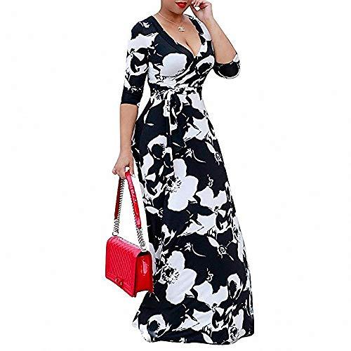 s Kleid Langärmliges Kleid mit V-Ausschnitt und Taille ()