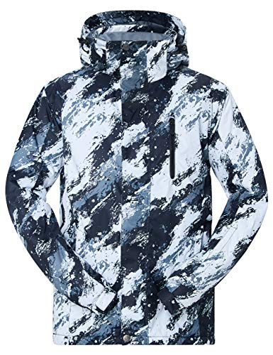 619680f438f NEWISTAR Mens Ski Outwear Desmontable con Capucha Offwhite Impermeable a  Prueba de Viento Transpirable Warm Boys