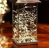 HAPPYMOOD Wand / Schreibtisch Lampe Zeichenfolge Licht Warm Weiß Romantisch Fee Anzeigen Innen Draussen Dekoration für Weihnachten Hochzeit Festival Valentinstag Geschenk
