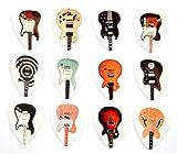 Set di 12 Chitarre elettriche classiche famosa chitarra plettri Set B