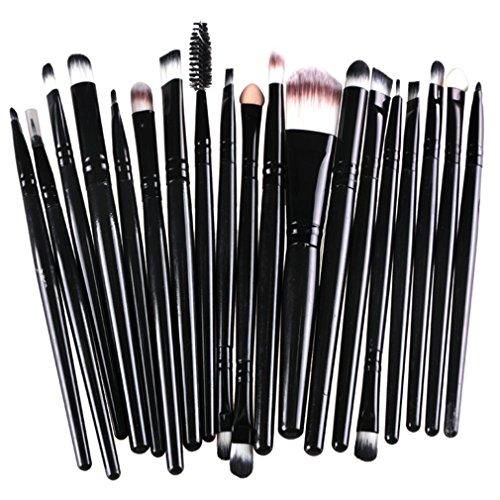 Bigood 20Pcs Pinceaux Maquillage Professionnel Brosse Cosmétique Beauté Outils