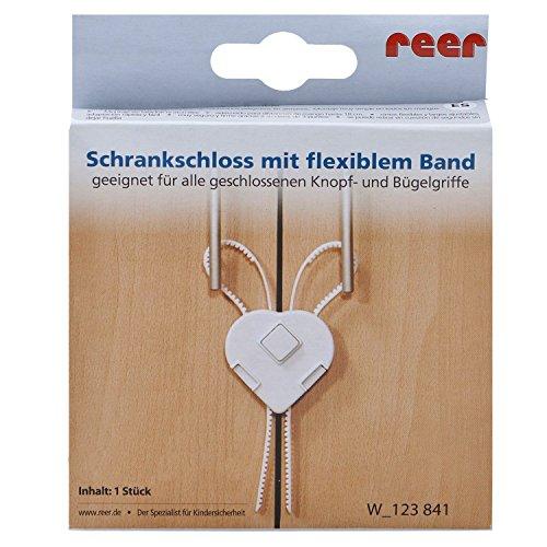 Reer 7107 - Schrankschloss, weiß -