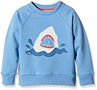 Kite Boy's Shark Crew Neck Long Sleeve Sweatshirt, Blue, 4 Years