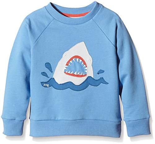 Shark Kinder Sweatshirt (Kite Jungen Sweatshirt Shark Blau, 4 Jahre)