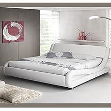 Design Ameublement - Lit design Alessia Blanc 180x200