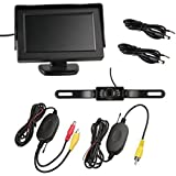 SODIAL(R) Camara Vista Trasera 7 LED + Transmisor Receptor Inalambrico + 4,3' Monitor LCD
