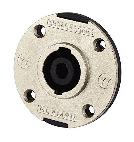 DynaVox 4250019128578 PA Lautsprecher Einbaubuchse 4 Pins rund mit Aluminiumblende