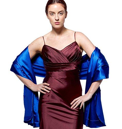 atopdress - Robe - Portefeuille - Sans Manche - Femme Argenté Argent Taille Unique azul real