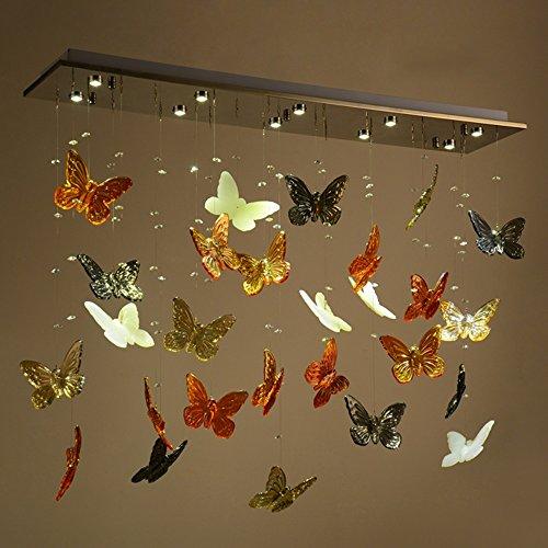Moderne Pers5onlichkeit einfache und kreative LED Kronleuchter Wohnzimmer Restaurant Schmetterling Kristall-Trennwand Kronleuchter [Effizienzklasse : A +]