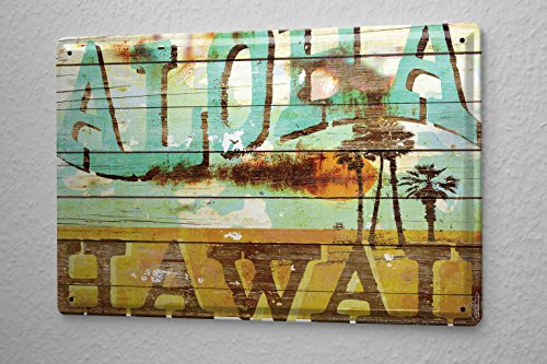 MA-Allen-Retro-Cartel-de-chapa-Placa-metal-tin-sign-EEUU-Deco-Aloha-Surf-Hawaii-Dream-Island-20x30-cm