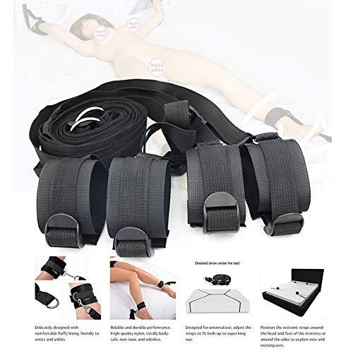 bingx Geeignet für sterben meisten Matratzen-Romantic Unterstützung Kit mit Bett Maske - Soft Hand- und Fußfesseln -
