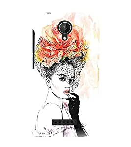 Beautiful Girl 3D Hard Polycarbonate Designer Back Case Cover for Micromax Canvas Spark Q380