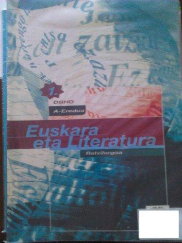 Portada del libro Euskara eta Literatura. A Eredua. 1 DBHO