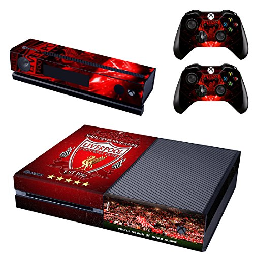 Aggressive Xbox One X Liverpool Skin Sticker Console Decal Vinyl Xbox One Controller Faceplates, Decals & Stickers Video Game Accessories