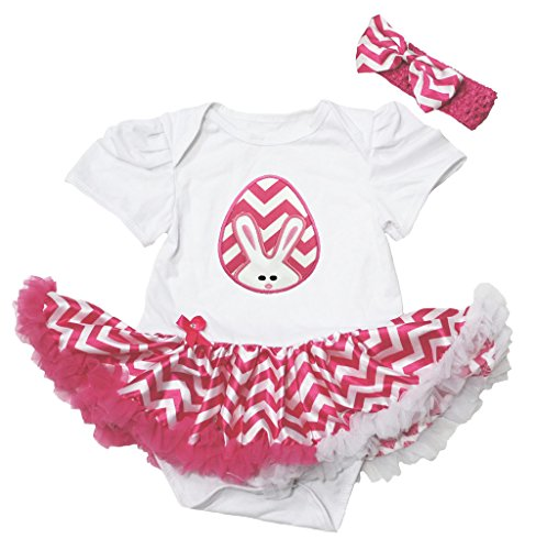 te Bodysuit Hot Pink Chevron Pettiskirt Baby Dress Nb-12m (6-12 Monat) ()