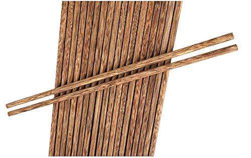 Takestop® set 10 coppie di bacchette legno mogano bamboo giapponesi cinesi sushi cibo