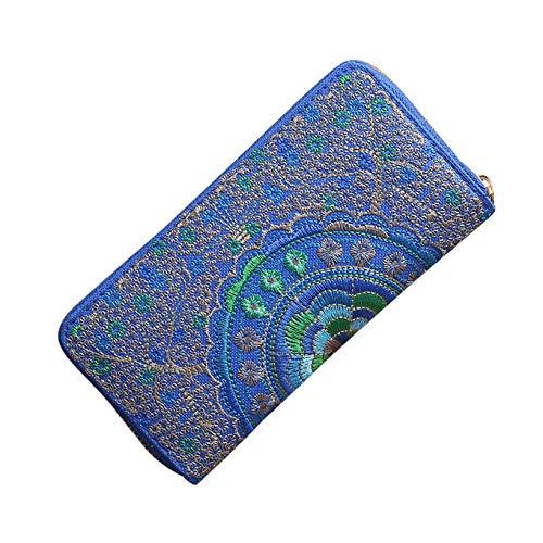 editkarteninhaber Kartenhalter Minimalistische Geldbörsen RFID-Brieftasche Kreditkartenetui Für Frauen Brieftasche Brieftaschen In Blue ()