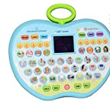 Siddhi Vinayak™ Electronic Educational Alphabets, Words, Sound, Numbers, Story, Music Andetc Learning Pad/TAB With Led Screen For Kids In Attractive Apple Shape
