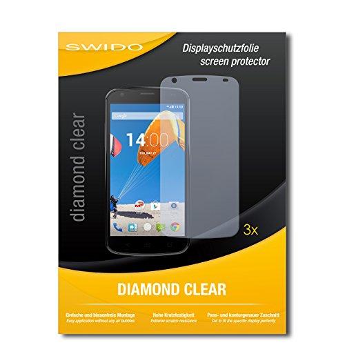 SWIDO 3 x Schutzfolie MobiWire Pegasus Bildschirmschutz Folie DiamondClear unsichtbar
