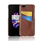 Excelsior Premium Leather Card Holder Back Cover Case for Oneplus 5 - Coffee
