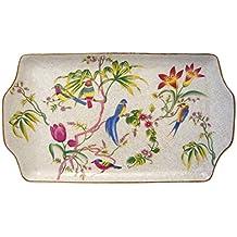 Better & Best Fuente plumcake de Porcelana con Dibujo de pájaros y Flores, ...