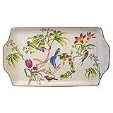 Better & Best 1395410 - Fuente plumcake de porcelana con dibujo de pájaros y flores, multicolor