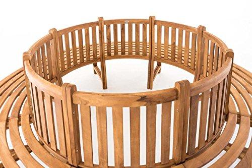 CLP Baumbank NOVUM aus massivem Teak-Holz, 360° Rund-Bank, geeignet für mindestens 8 Personen Ø ca. 132 cm / 250 cm (innen / außen) - 3