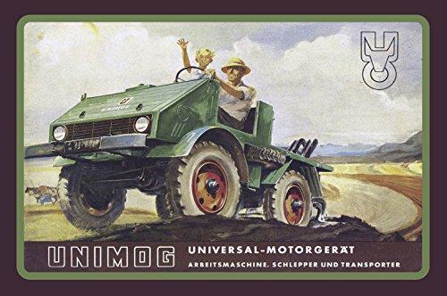 Schatzmix Unimog reklame Universal Motorgerät blechschild