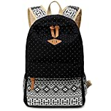 VADOOLL Leaper Geometry Dot Casual Canvas Backpack Bag - Best Reviews Guide