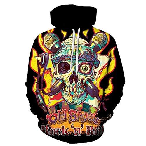 LLPOKM 3D Print Pullover Hoodies Männer Langarm Oansatz Taschen Mit Kapuze Sweatshirts Heißer Lose Hoodie WEIYI-273 S