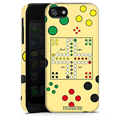 Apple iPhone X Silikon Hülle Case Schutzhülle Mensch ärger Dich nicht Spiel Spielbrett Tough Case matt