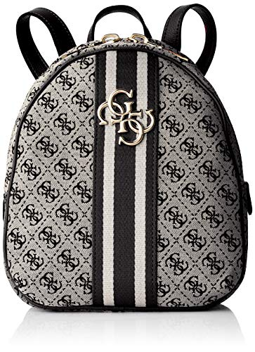 Guess Vintage Backpack, Zaino Donna, Bianco (Black), 23x27.5x9.5 cm (W x H x L)